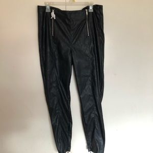 NWT justfab feaux leather pants